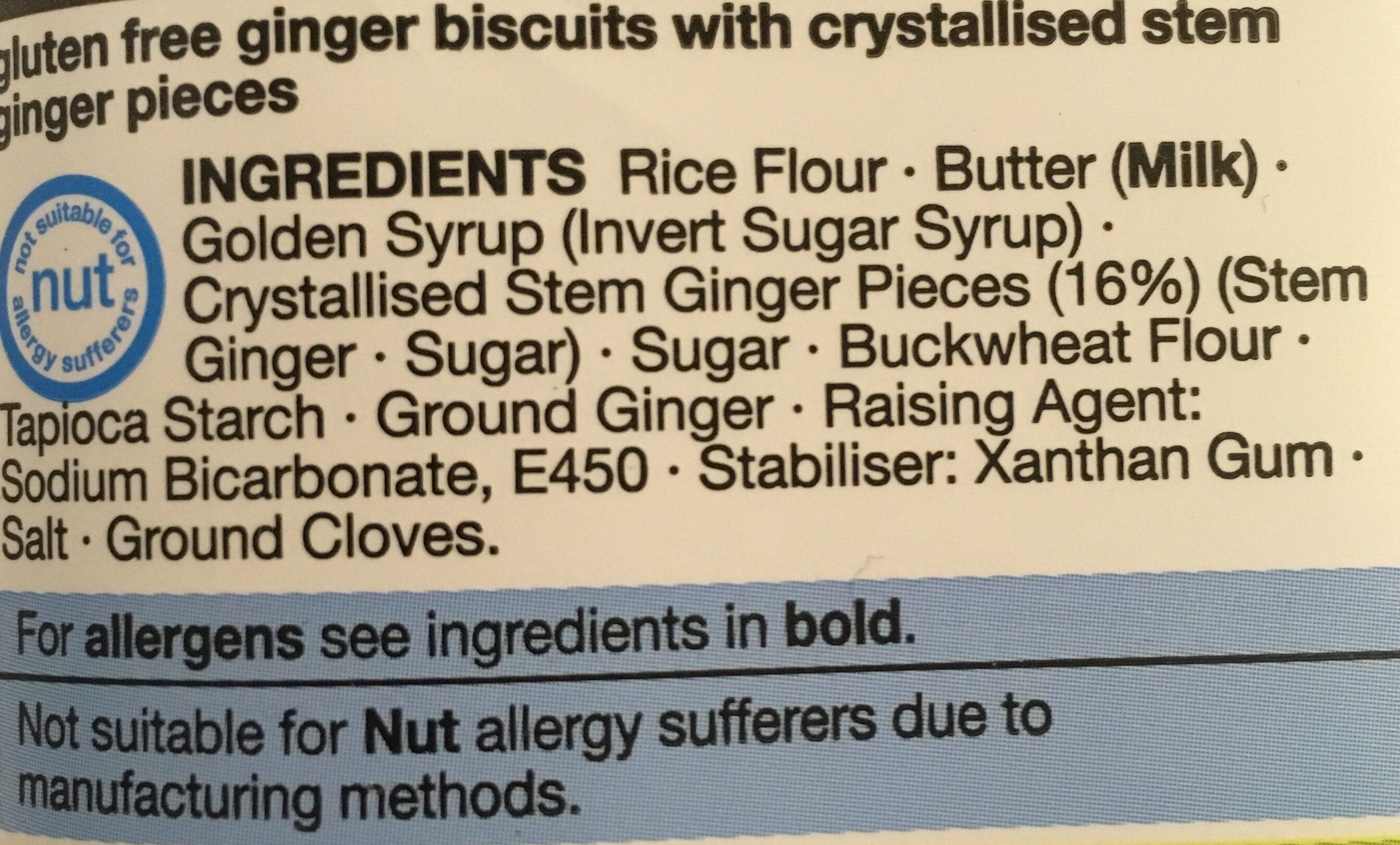 Stem Ginger Snaps - Ingrédients - en