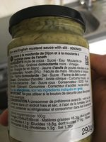 Moutarde and dill sauce - Ingredients