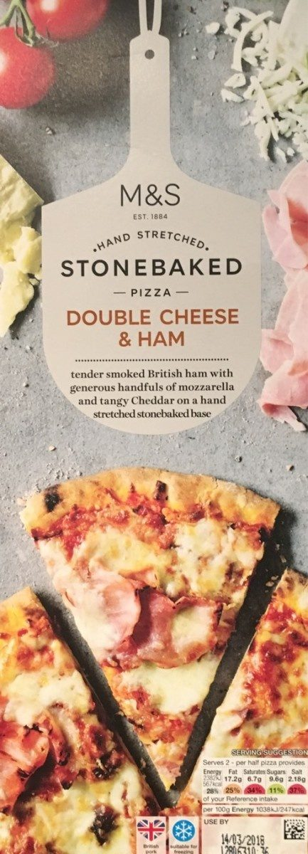 Stonebaked pizza double cheese & ham - Product - fr