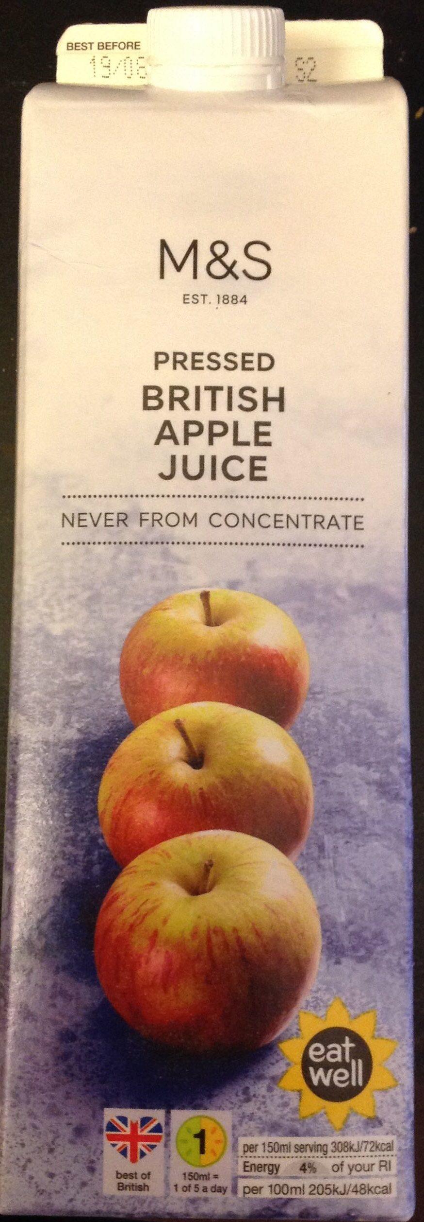 Pressed British Apple Juice - Product