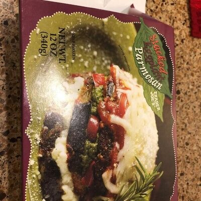 Stacked Eggplant parmesean - Product - en