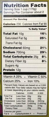 Stacked Eggplant parmesean - Nutrition facts - en