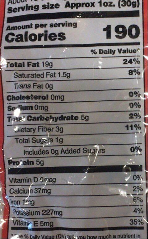 Oregon Hazelnuts Dry Roasted & Unsalted - Nutrition facts - en