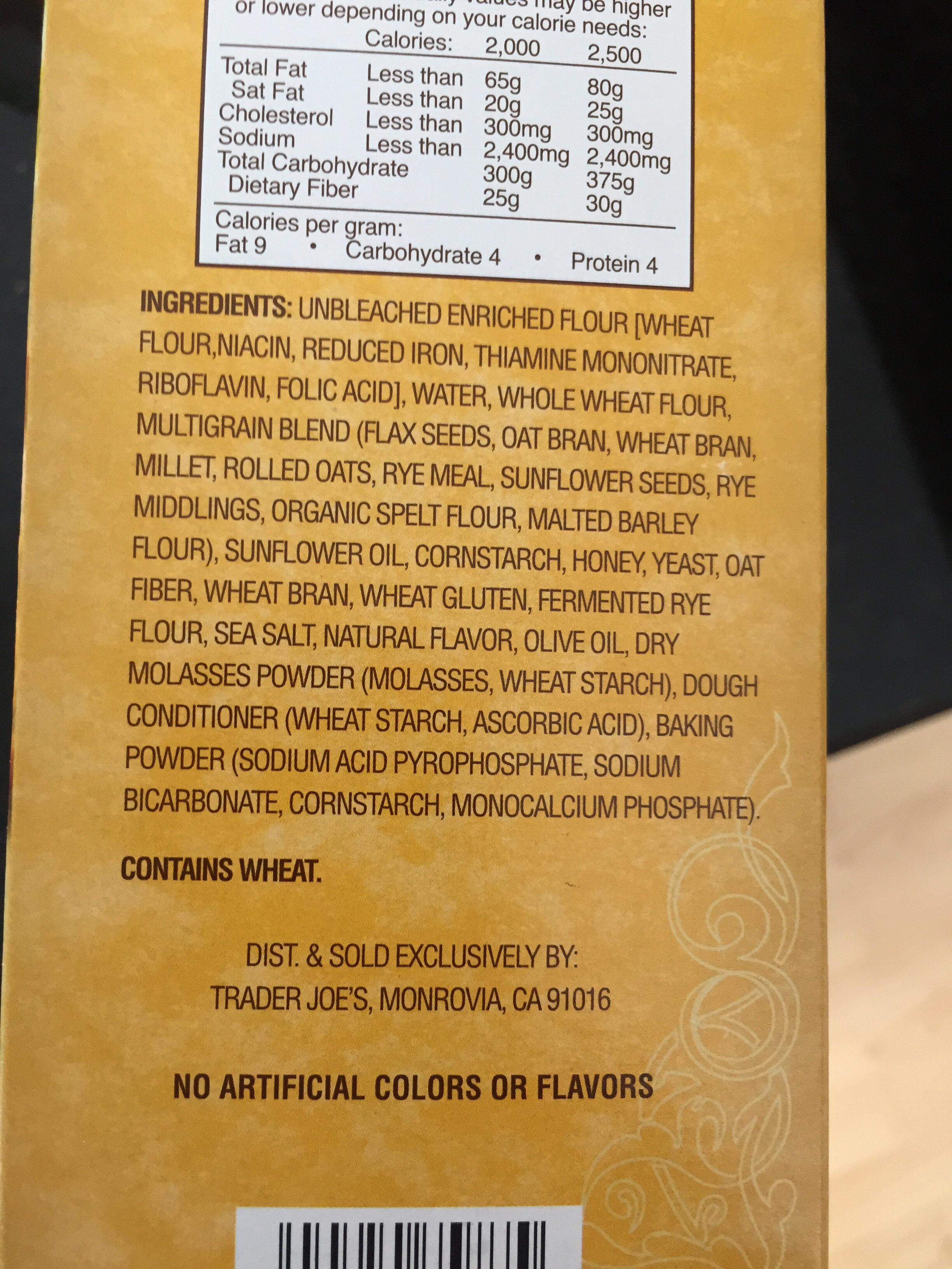 Multigrain pita bite crackers - Ingredients - en