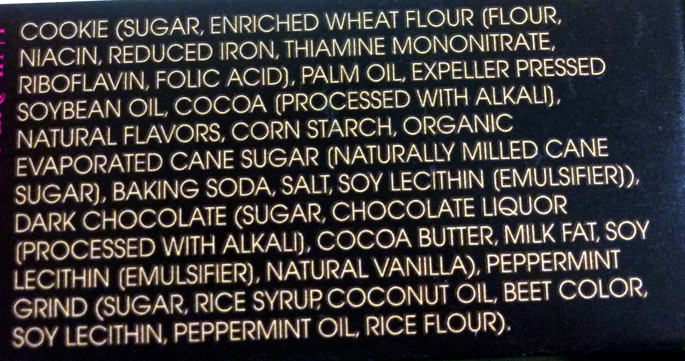 Joe-joe's - Ingredients
