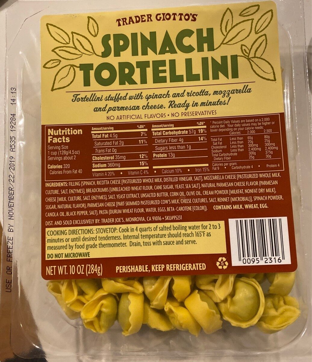 Tortellini spinach - Product