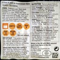 Duck breast fillets skin on - Ingredients - en