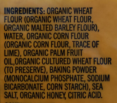Organic Wheat and Corn Flour Tortillas - Ingredients - en