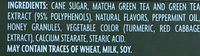 Green tea infused MINTS - Ingrédients