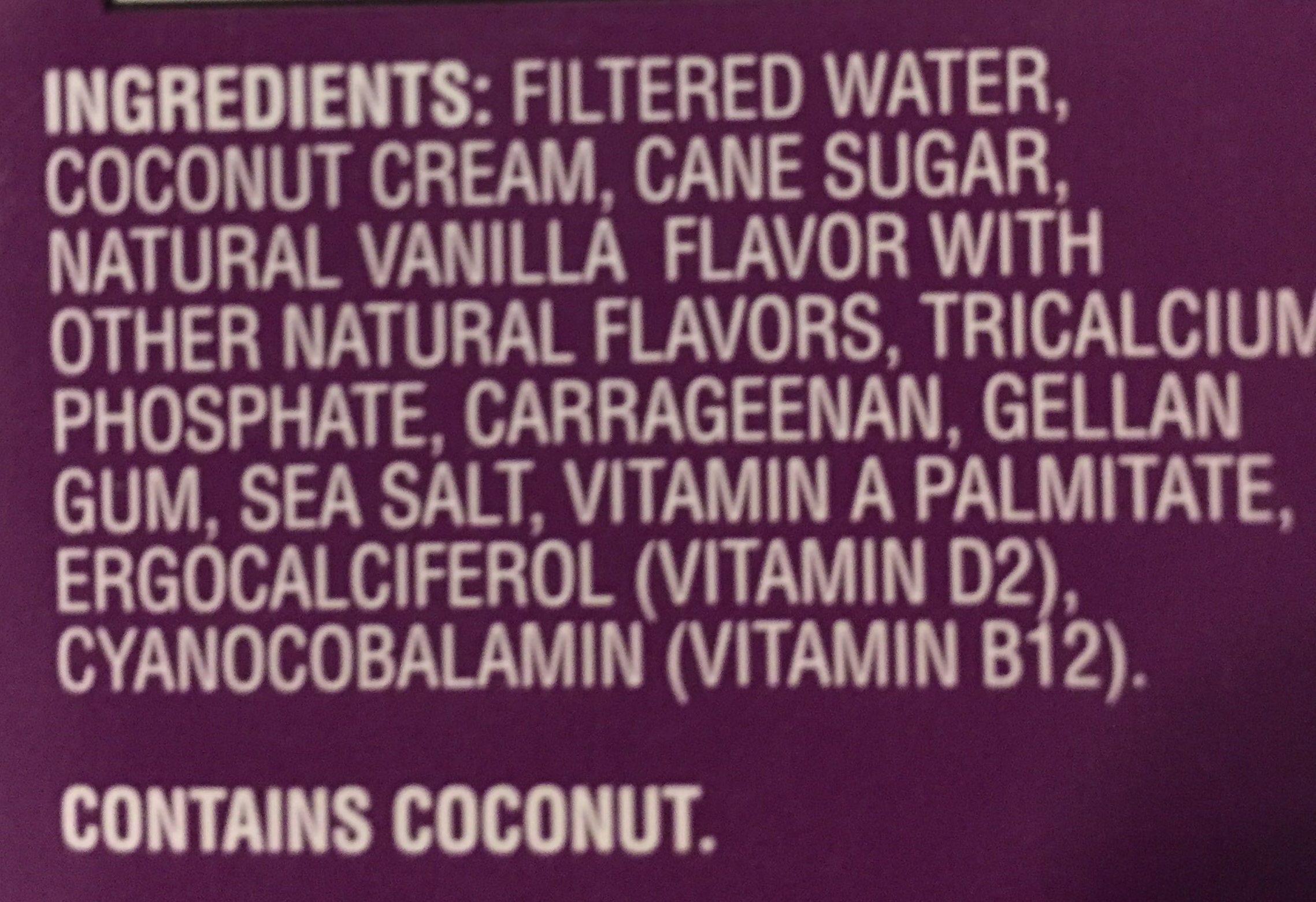 Coconut beverage - Ingredients - en