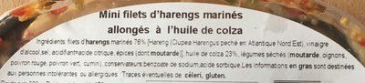 Minis Hareng - Ingredients - fr