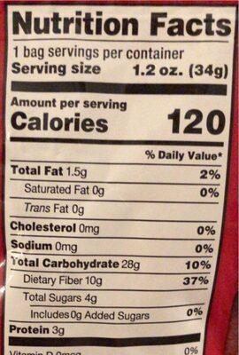 Freeze Dried Raspberries - Nutrition facts - en