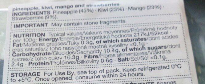 Salade de fruits - Nutrition facts