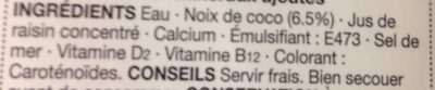 Coconut drink - Ingredients - fr