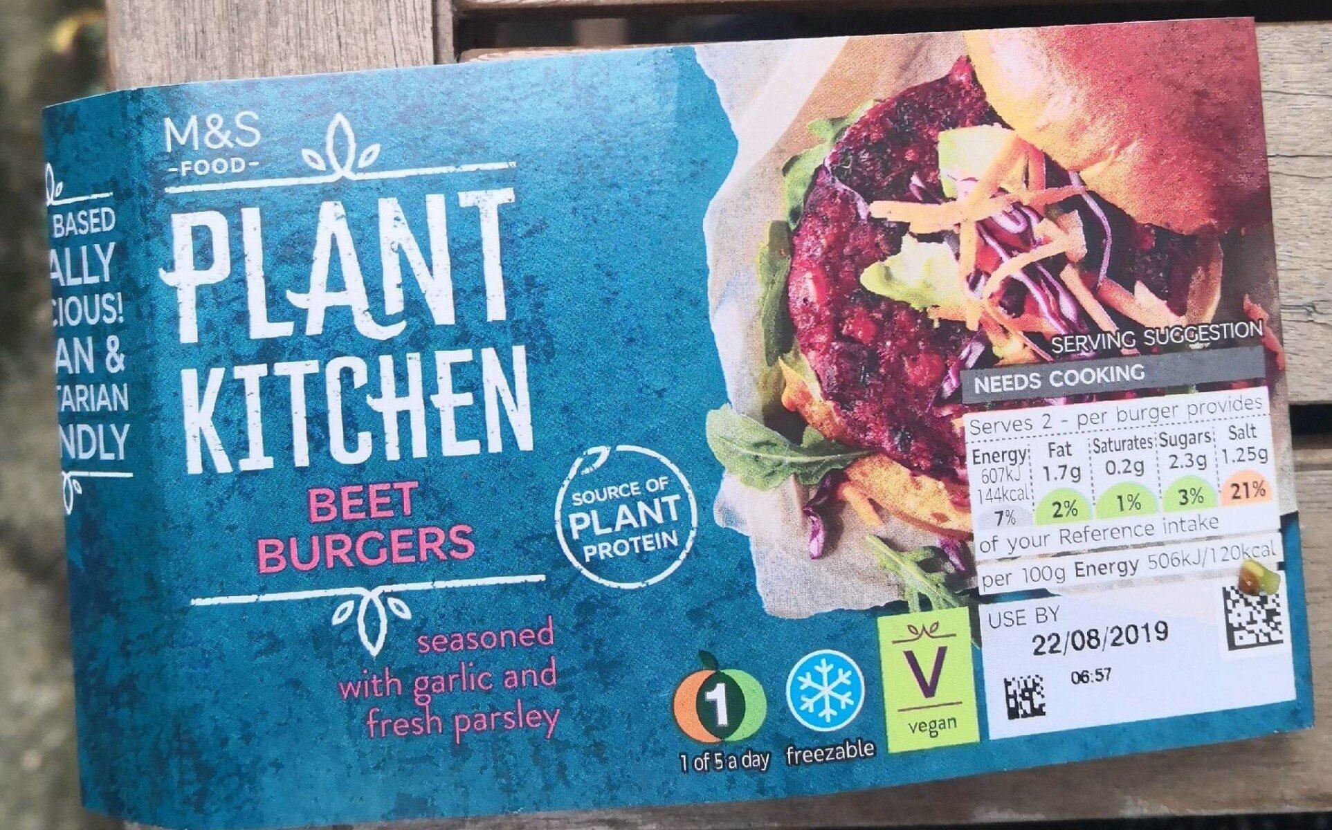 Plant kitchen beet burger - Produit - fr