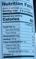 Coconut water - Nutrition facts - en