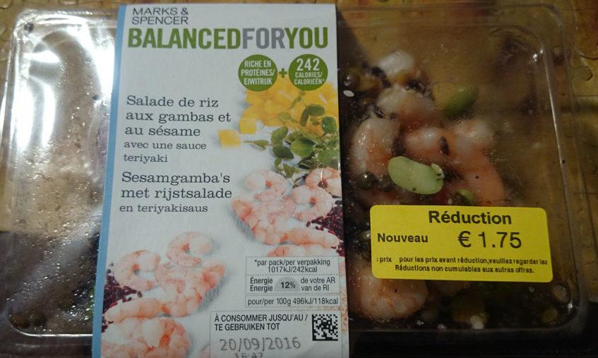 Salade de Riz aux Gambas et au Sésame avec une Sauce Teriyaki - Product