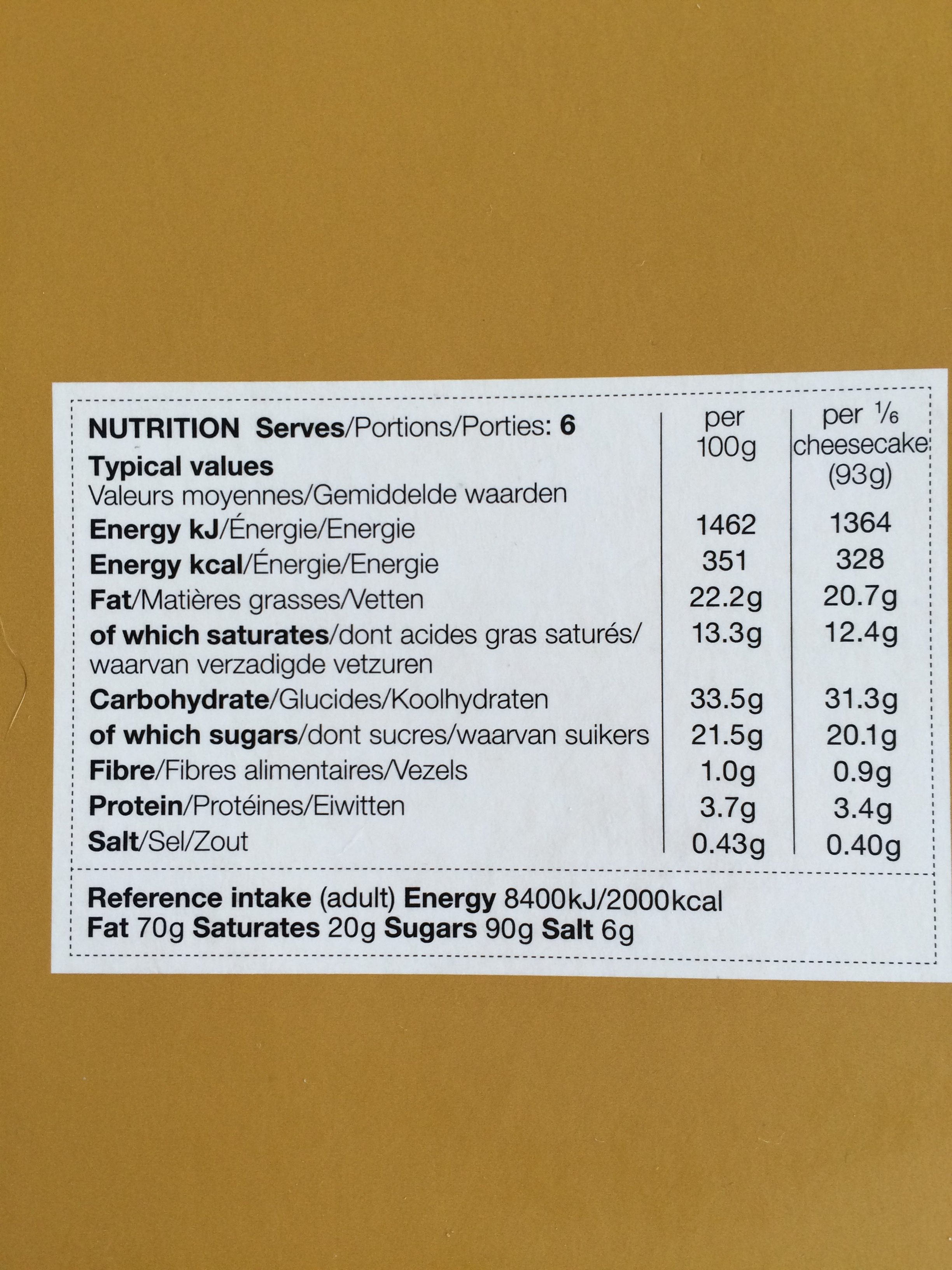 Salted Caramel Cheesecake - Ingredients - fr
