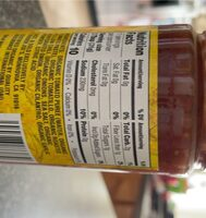 Organic Tamarillo & Roasted Yellow Chili Salsa - Nutrition facts - en