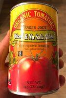 Organic diced tomatoes no salt added - Produit