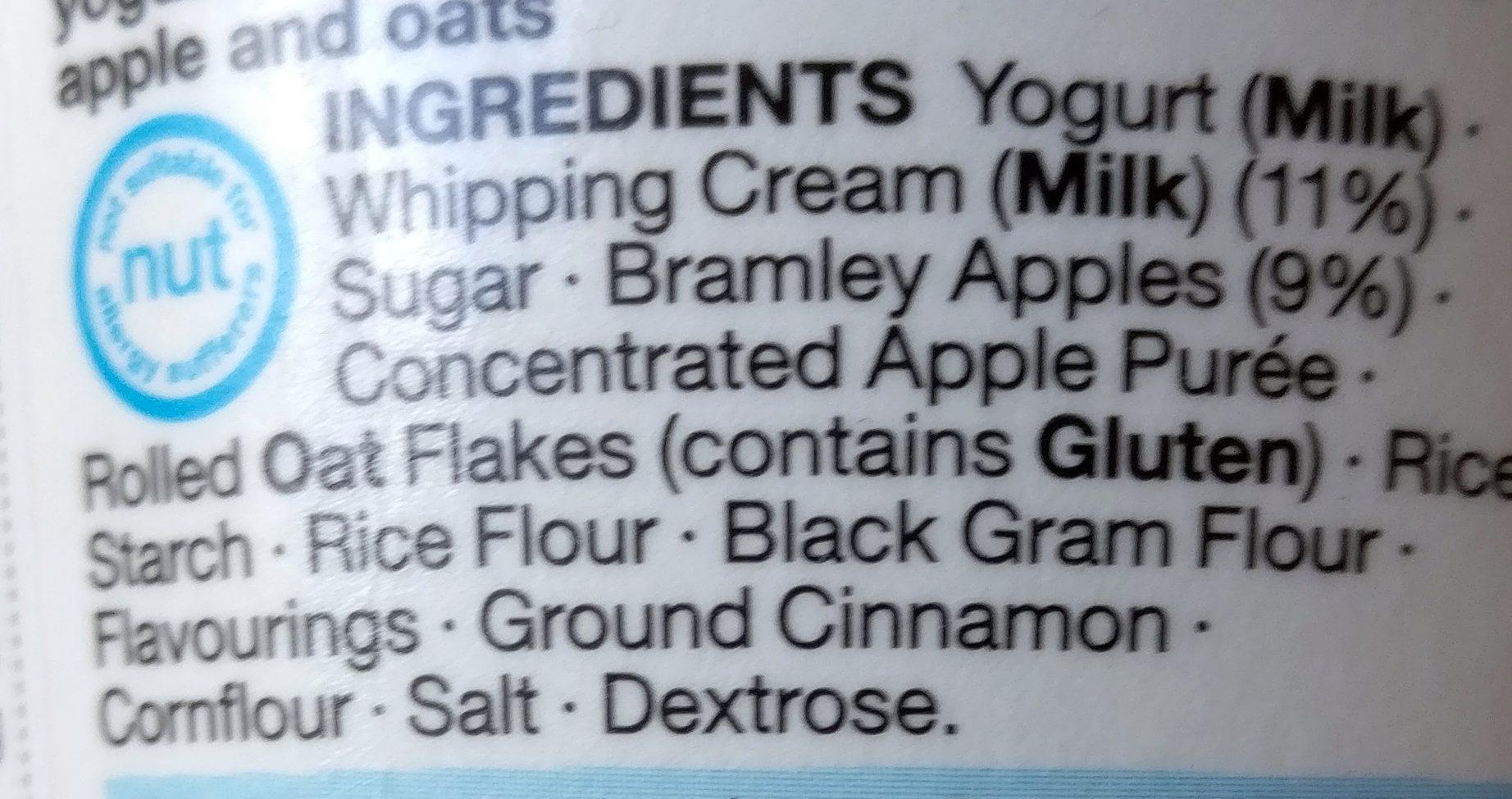 Yaourt Apple Crumble - Ingrediënten - en