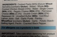 Chicken & Parmesan Fettuccine - Ingredients