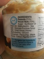 Crunchy Peanut Butter with Maple & Pecans - Ingredients - en