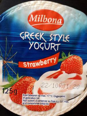 Greek style yogurt strawberry - Product - nl