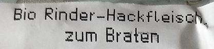 Rinder-Hackfleisch zum Braten - Ingredients - de