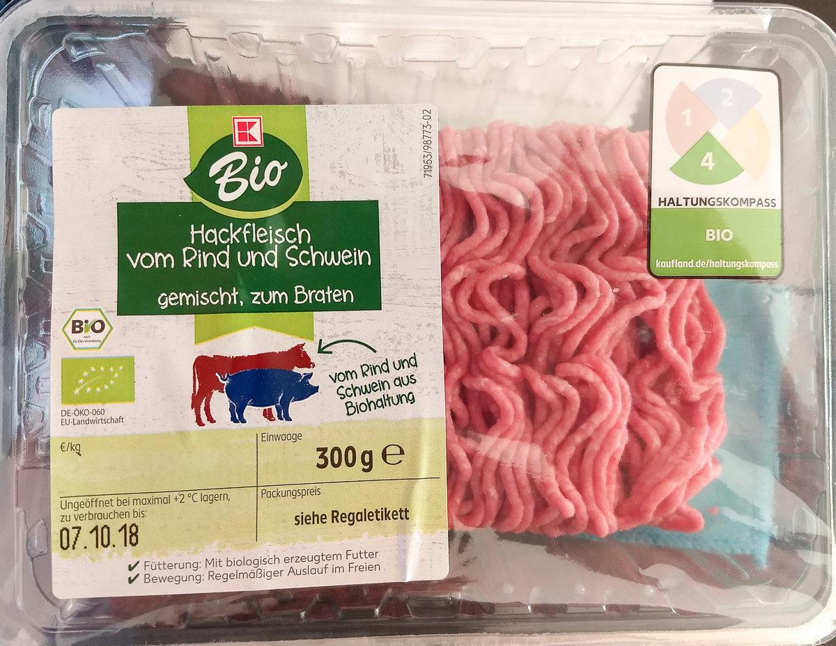 Hackfleisch vom Rind und Schwein gemischt, zum Braten - Product - de