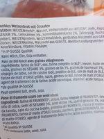 oliver's sandwich- xl vitality - Ingredients