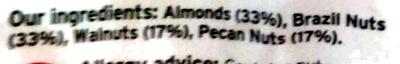 mixed nuts - Ingrédients - en