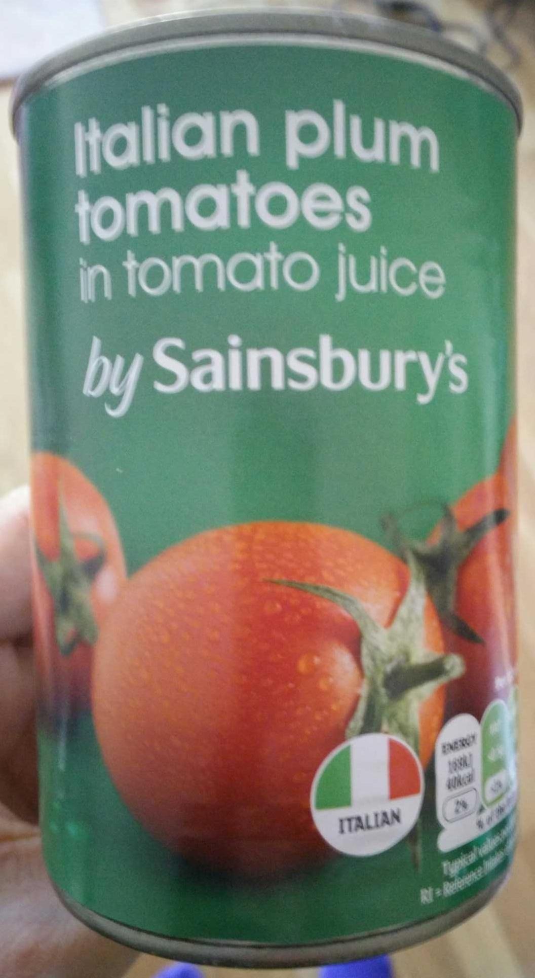 Italian plum tomatoes in tomato juice - Product