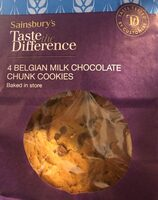 Belgian chocolate chunk cookies - Product