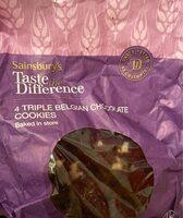 4 triple belgian chocolate cookies - Product