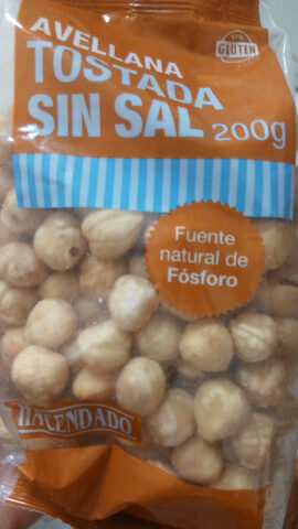Avellana tostada sin sal - Producto - es