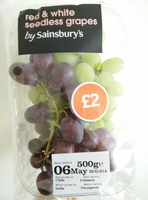 red & white seedless grapes - Product