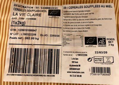 CEREALES SOUFFLEES AU MIEL - Produit - fr