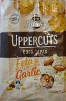 Uppercuts Feta & Roasted Garlic Flavoured Corn Chips - Produit - en