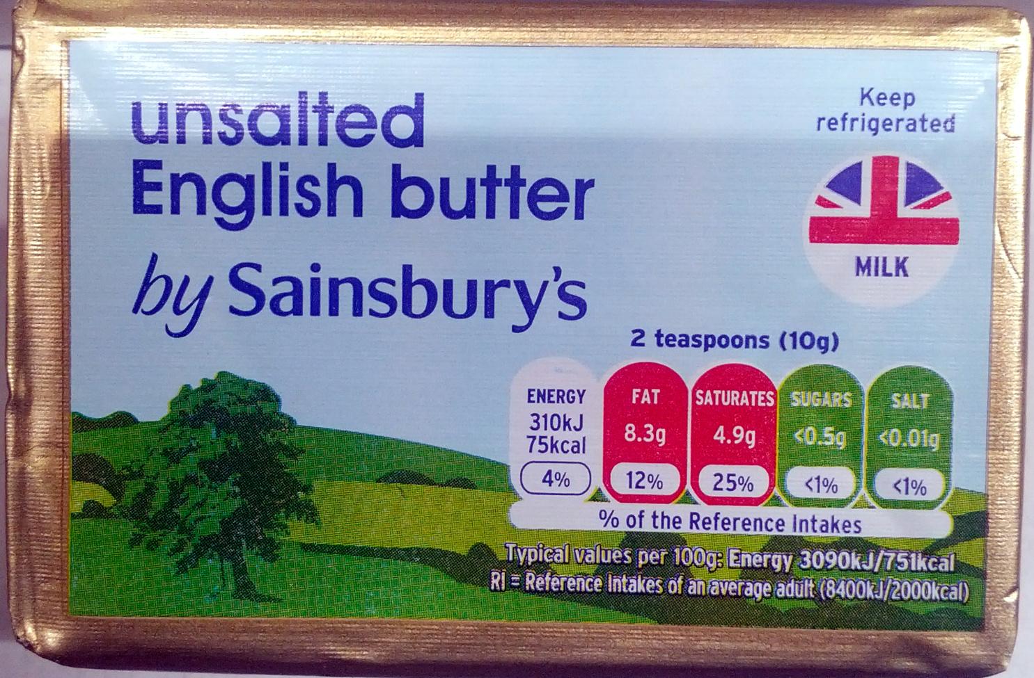 Unsalted English Butter - Produit - en