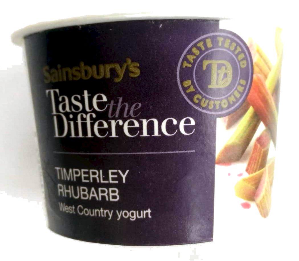 Timperley Rhubarb West Country Yogurt - Product - en