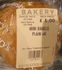 mini bagels - Product