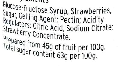Strawberry Jam - Ingrédients - en