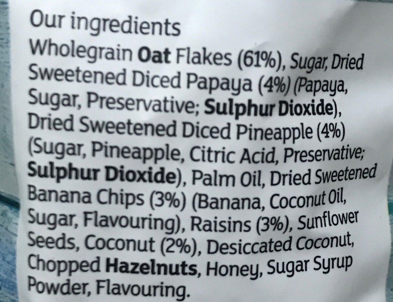 Tropical Granola - Ingrédients - fr
