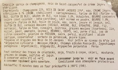 Coquilles Saint-Jacques à la Normande - Ingredients