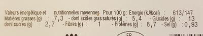 Coquilles Saint-Jacques à la Normande - Nutrition facts
