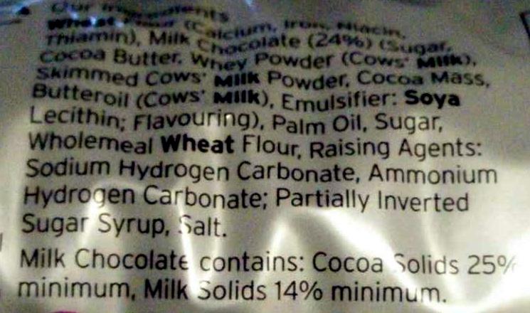 milk chocolate digestives - Ingredients