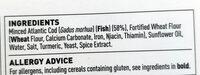 10 breaded cod fish fingers - Ingredienti - en
