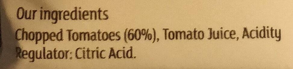 Chopped tomatoes in tomato juice - Ingredients - en