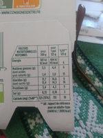 activia fruits mixés - Valori nutrizionali - fr